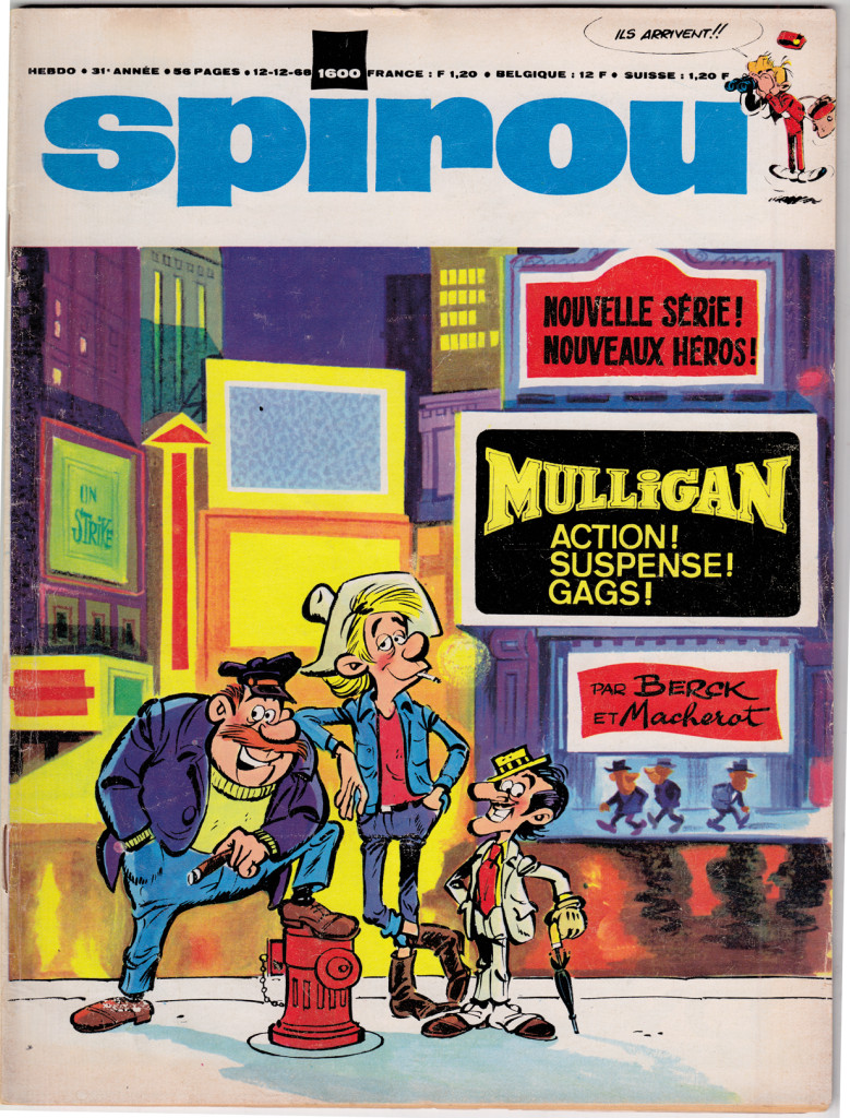 Berck  - couverture - Spirou 1600   1968