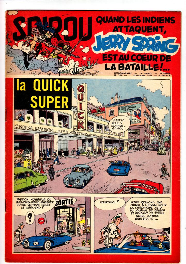 Franquin - SPIROU 907 9-55 - cover La Super Quick