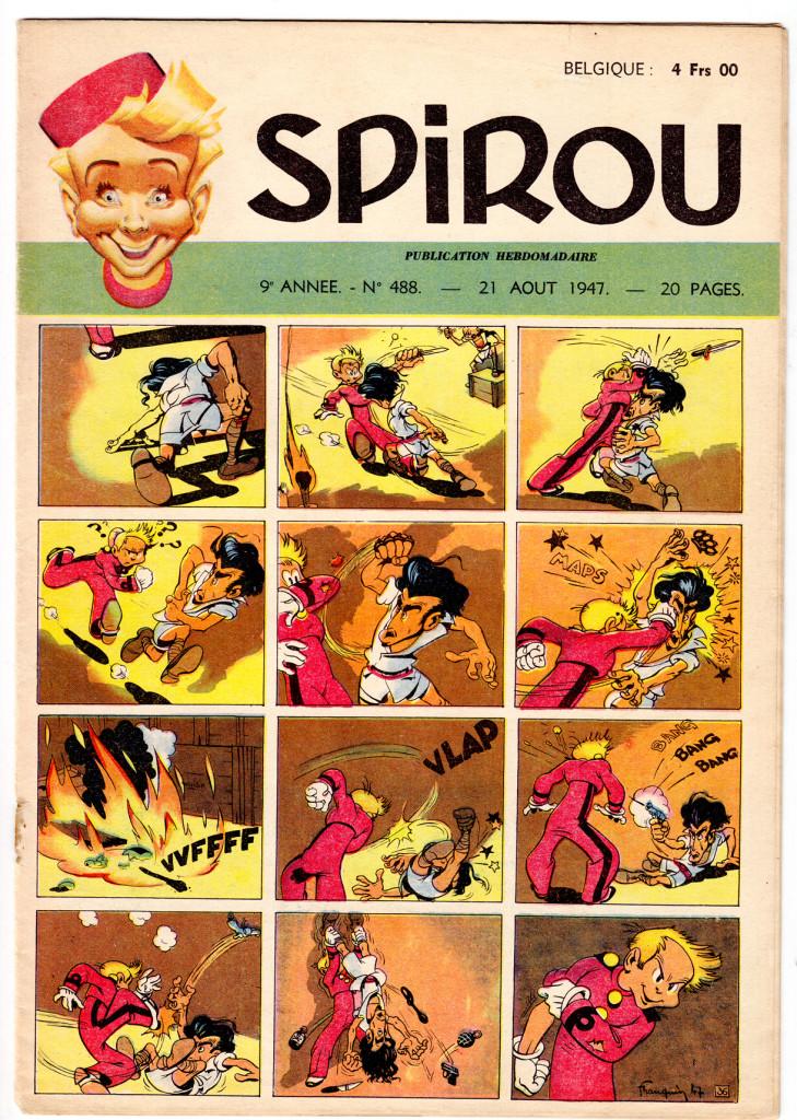 Franquin - Spirou 488 - 21-8-47 cover
