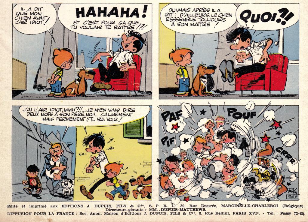 Roba - Boule et Bill - Spirou 1226 - 1961 detail