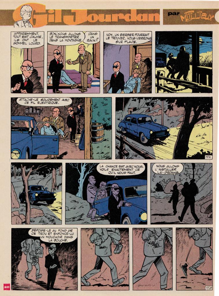 Tillieux - Gil Jourdan - le grand souffle - spirou 1560 1968