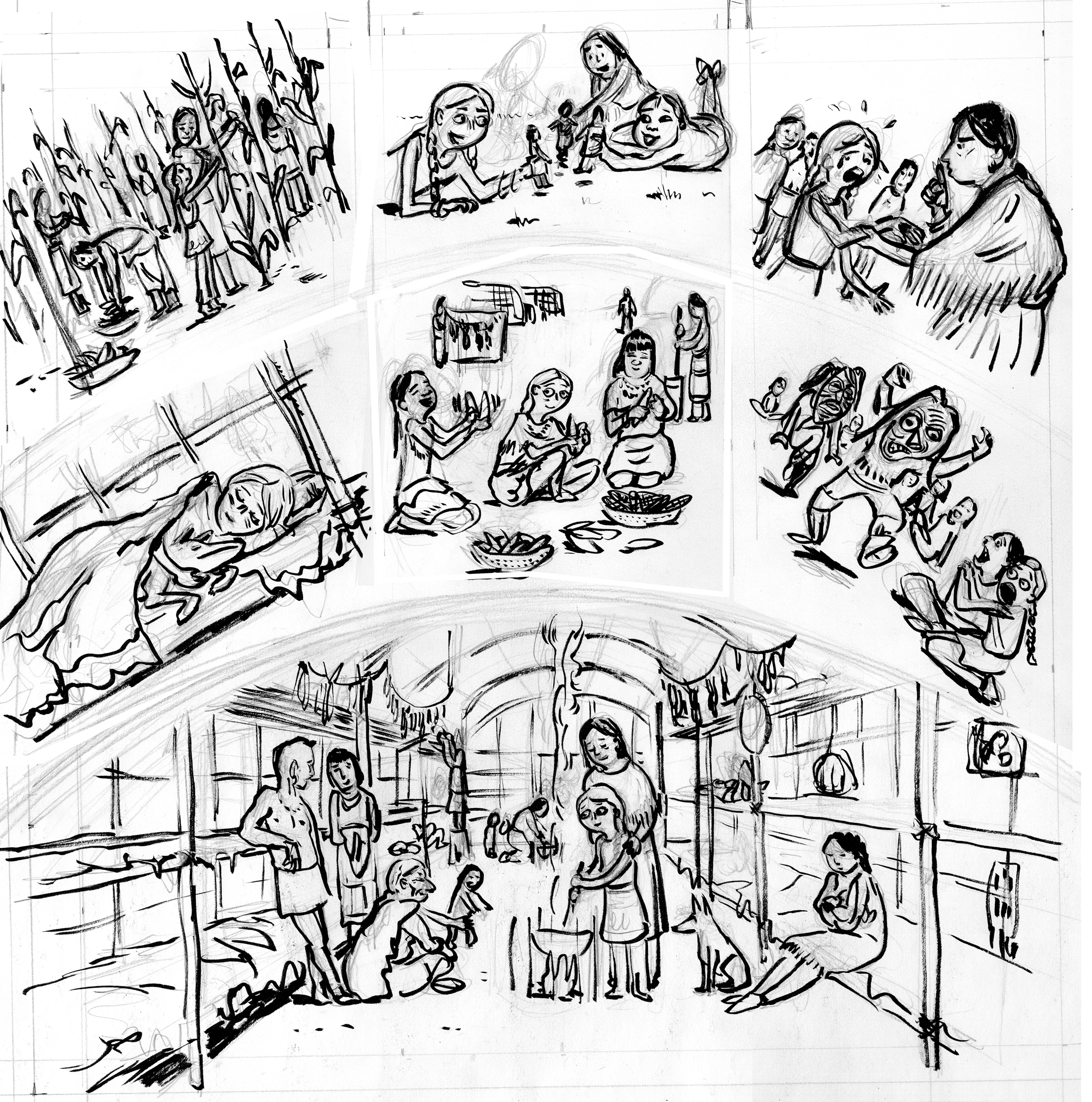Longhouse coloring pages coloring pages for Iroquois coloring pages