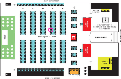 Table chart courtesy of Whit Taylor - Alexander, Doug and I will be right next to her: table B32!