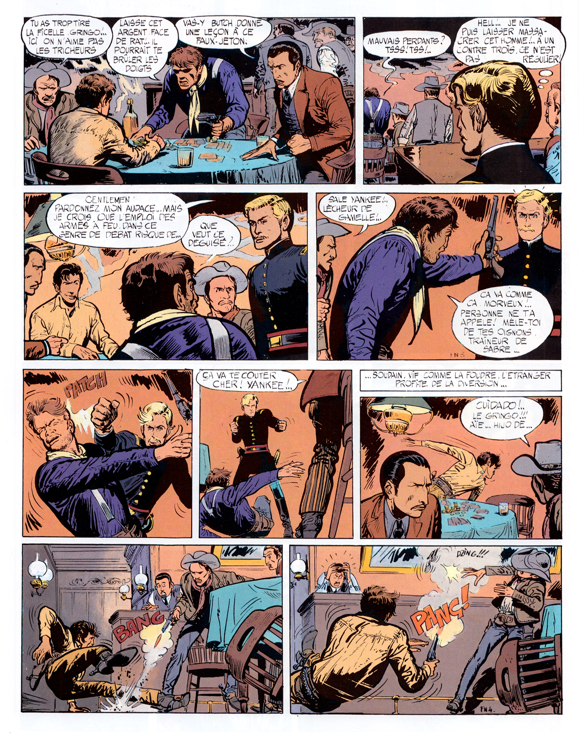 Giraud & Charlier, Fort Navajo 1965; page four  of the first Blueberry story.