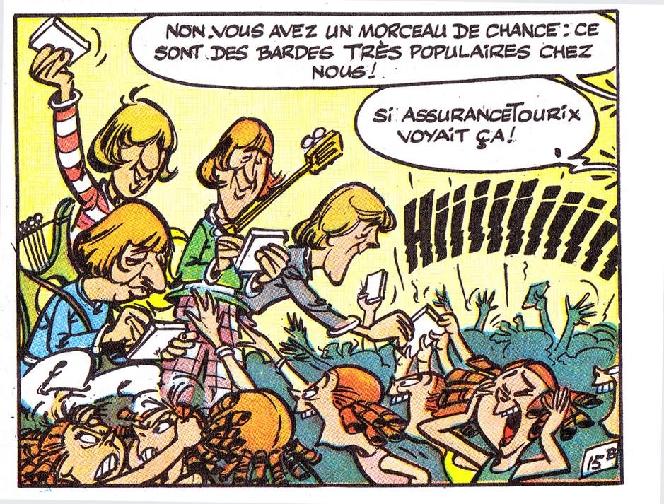 Uderzo - ASTERIX - Chez Les Bretons p19 1966 DETAILBeatles