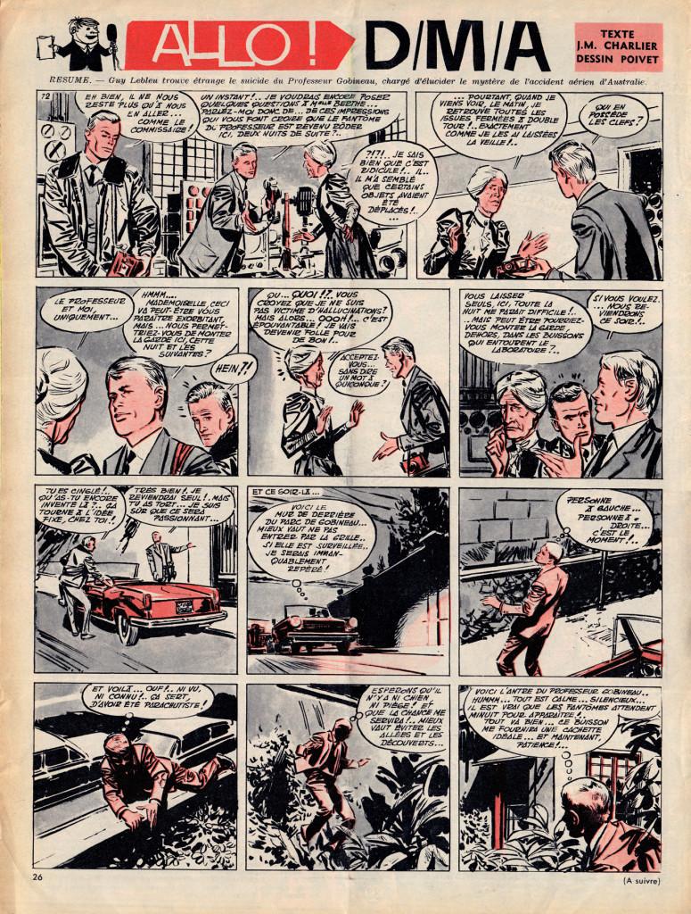 """Charlier & Poivet, """"Allo DMA"""" June, 1962"""