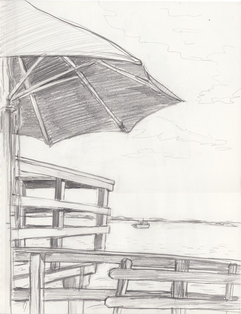 PTown deck umbrella