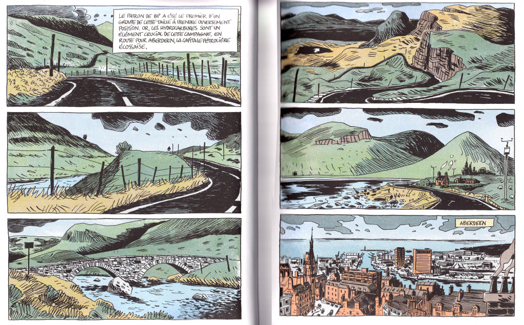 "Double-page spread from ""Yes Scotland"" by  Hensgen and Casanave"