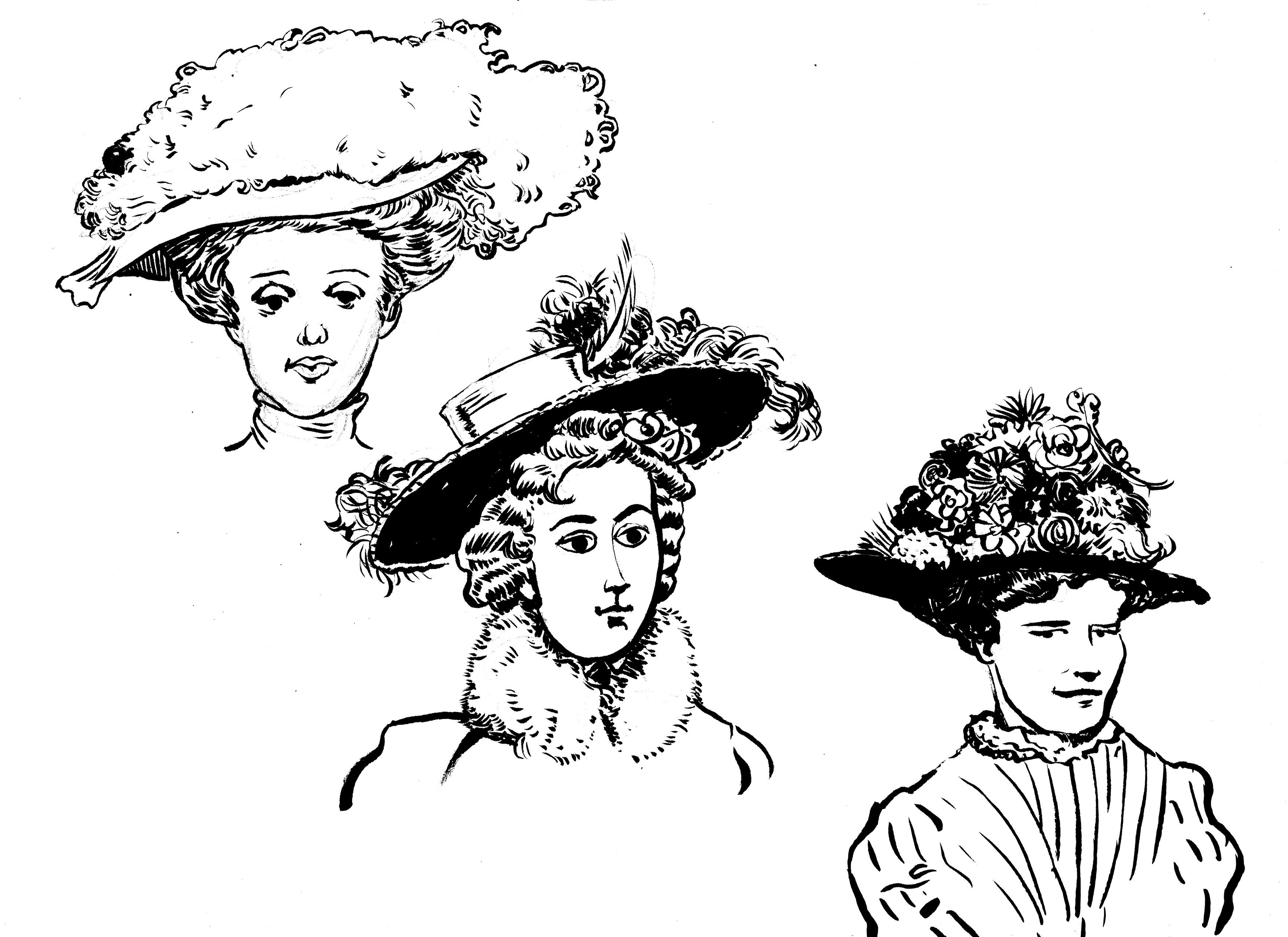 hats 1 bw