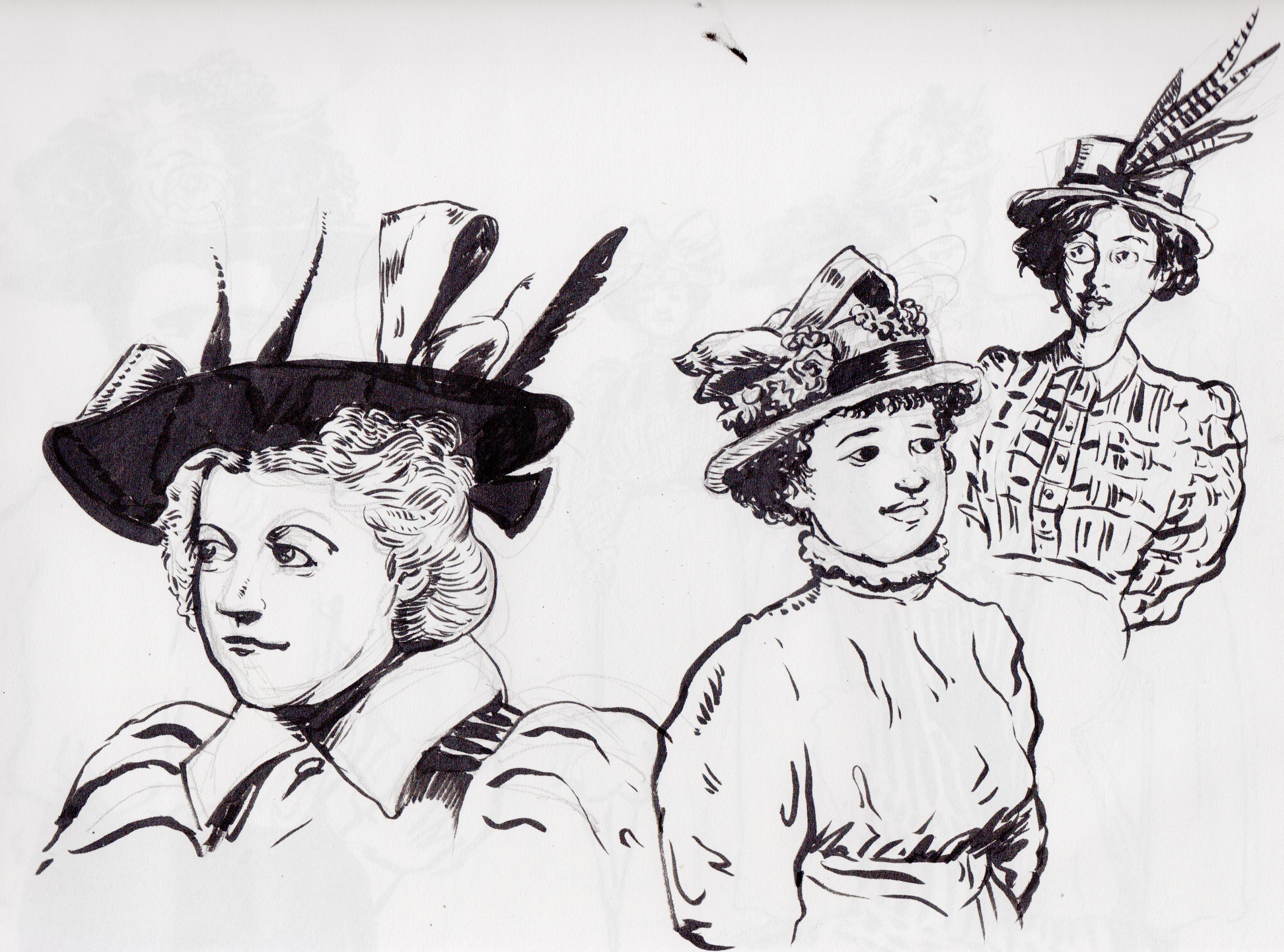 hats 2 gray