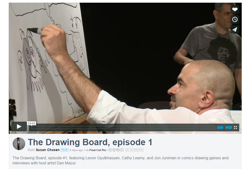 "Jon Juniman and Levon Gyulkhasian in the first episode of ""The Drawing Board"""