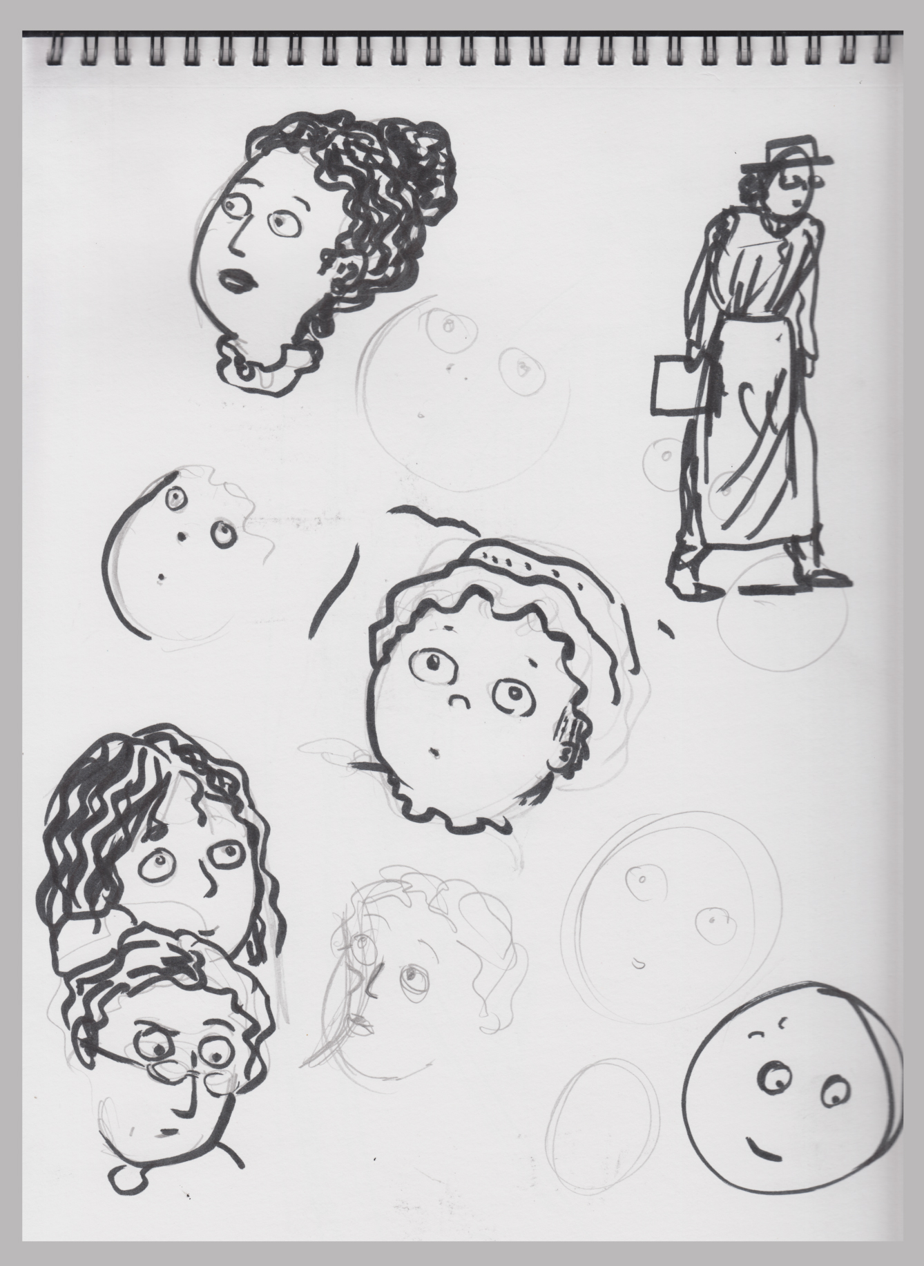 7-8-16 chararcter scribbles