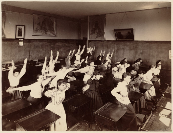 Victorian Students at Boston's Schools Doing Exercising in the 1890s (2)