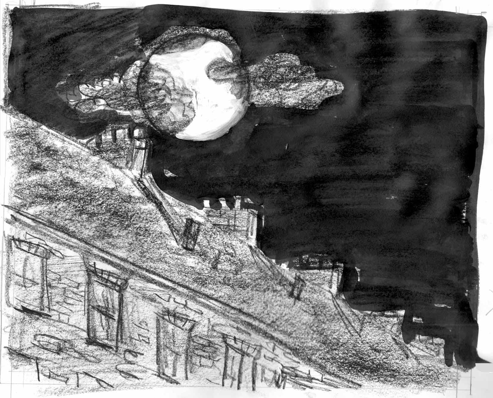 9-15-16-moon-over-roof-sktch