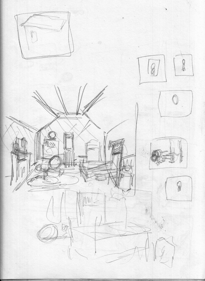 Bedroom interior sketch 1 1-24-17