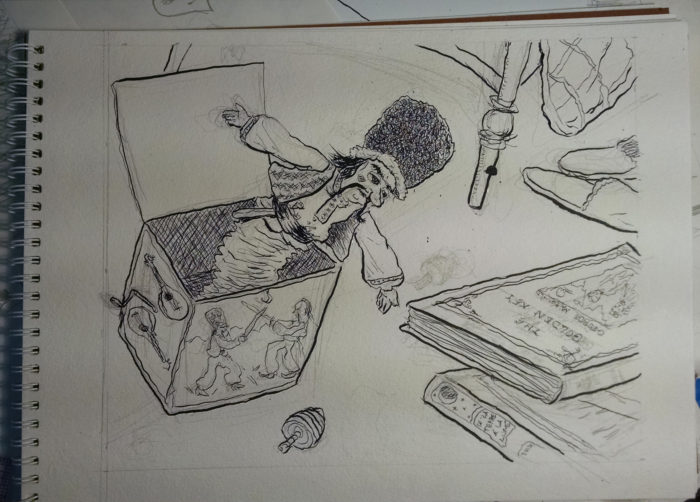 process photo p4 inked