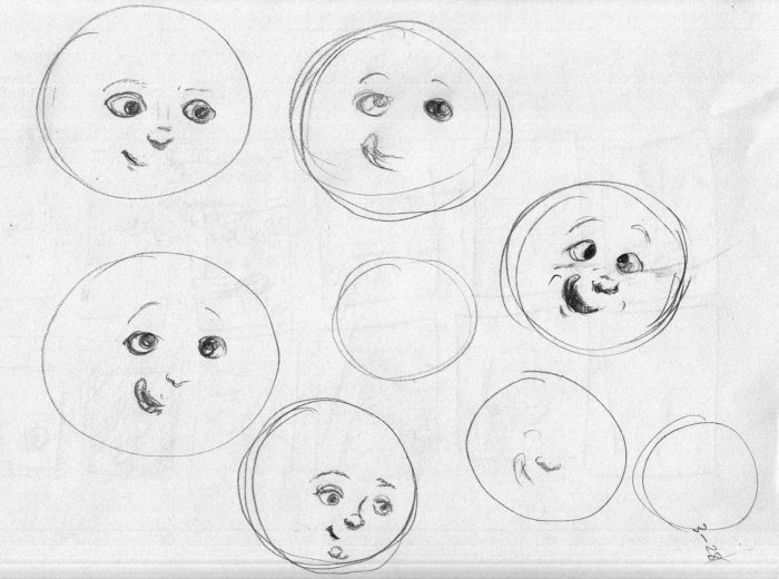 Moon sketches 3-28