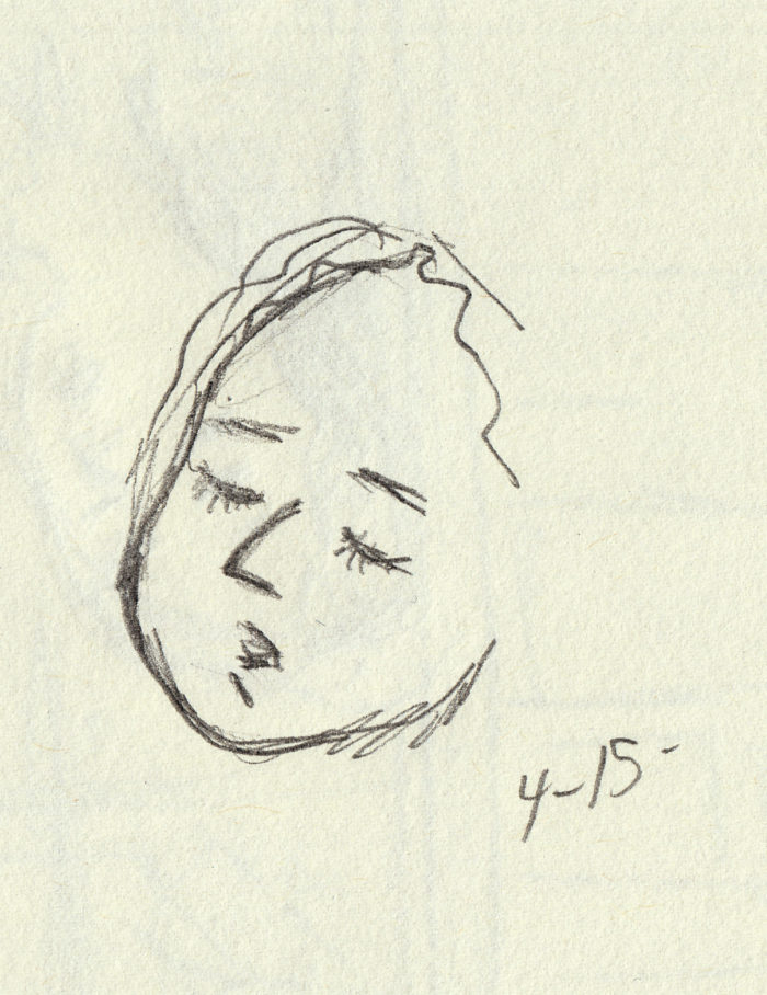 p16 sketch - face - close 4-15