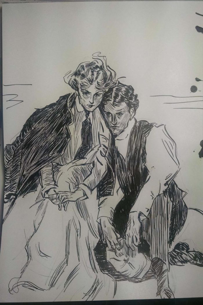 """The Last Day of Summer,"" after Charles Dana Gibson"